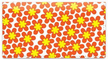Retro Flower Checkbook Cover