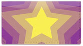 Centered Star Checkbook Cover