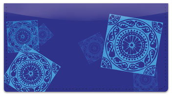 Tantalizing Tile Checkbook Cover
