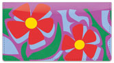 Girly Flower Checkbook Cover