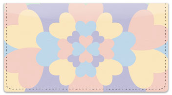 Flowering Heart Checkbook Cover