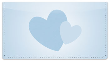 Two Hearts Checkbook Cover