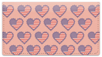 Patriotic Heart Checkbook Cover