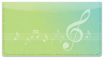 Musical Note Checkbook Cover