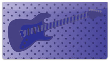 Guitar Checkbook Cover
