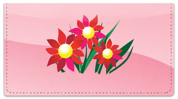 Spring Flower Checkbook Cover