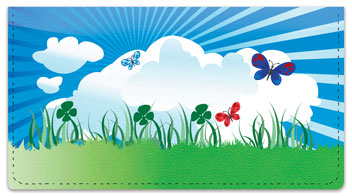 Cute Butterfly Checkbook Cover