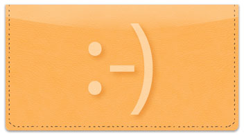Text Me a Smile Checkbook Cover