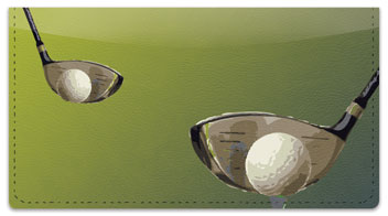 Golf Checkbook Cover