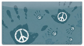 Peace and Love Checkbook Cover