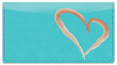 Painted Heart Checkbook Cover