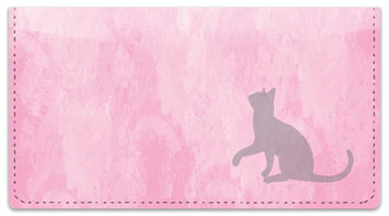 Cat Silhouette Checkbook Cover