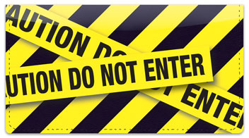 Caution Tape Checkbook Cover