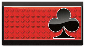 Card Suit Checkbook Cover