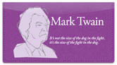 Mark Twain Checkbook Cover