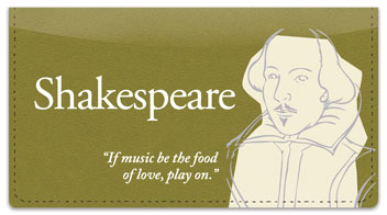 Shakespeare Checkbook Cover