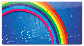 Rainbow Checkbook Cover