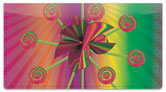 Retro Pinwheel Checkbook Cover