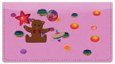 Cute Teddy Bear Checkbook Cover