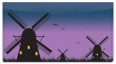 Dutch Windmill Checkbook Cover