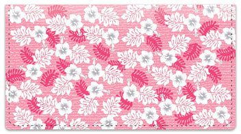 Hawaiian Print Checkbook Cover