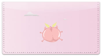 Flying Pig Checkbook Cover