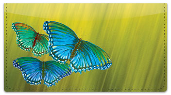 Colored Wings Checkbook Cover