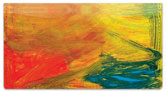 Colorful Brush Stroke Checkbook Cover