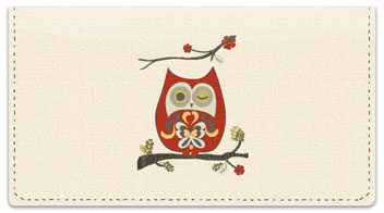 Country Owl Checkbook Cover
