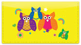 Colorful Owl Checkbook Cover