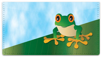 Tree Frog Checkbook Cover