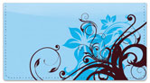 Floral Scroll Checkbook Cover