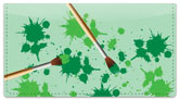Paintbrush Checkbook Cover