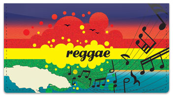 Reggae Music Checkbook Cover