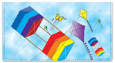 Colorful Kite Checkbook Cover