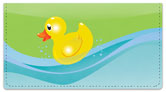 Rubber Duck Checkbook Cover