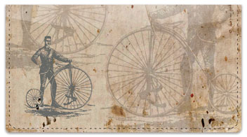 Vintage Bicycle Checkbook Cover