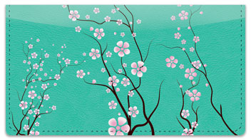 Cherry Blossom Checkbook Cover