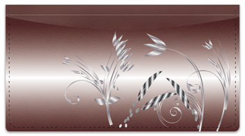 Metallic Flower Checkbook Cover