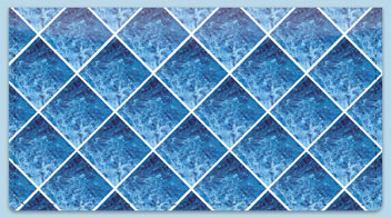 Blue Marble Tile Checkbook Cover