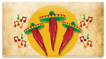 Mexican Fiesta Checkbook Cover