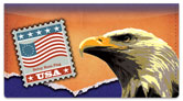 Flag Stamp Checkbook Cover