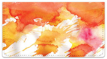 Watercolor Checkbook Cover