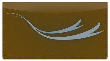 Flowing Ribbon Checkbook Cover