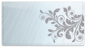 Fancy Scroll Checkbook Cover