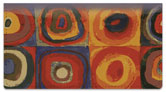 Abstract Art Checkbook Cover
