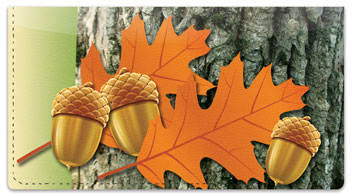 Leaf Collection Checkbook Cover
