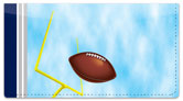 Blue & Silver Football Fan Checkbook Cover