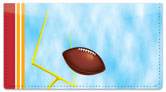 Red & Gold Football Fan Checkbook Cover