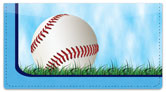 Blue Baseball Fan Checkbook Cover